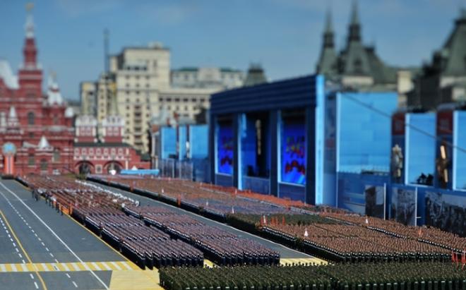 Duyệt binh trển quảng trường Đỏ Moscow. Ảnh: AFP
